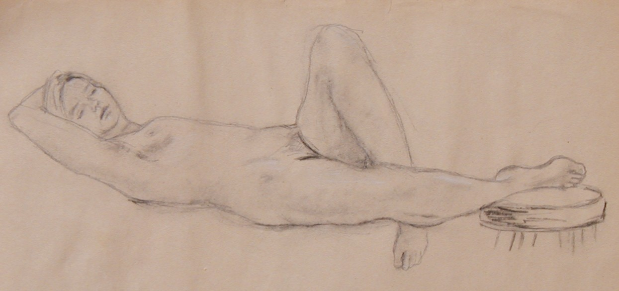Nude Sketches Charcoal drawings of live models - Susan Chimento - 2005